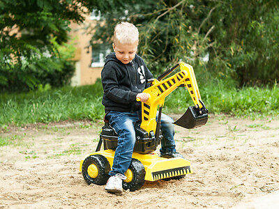 Mega Excavator Digger + Helmet Farm Outdoor Ride On Tractor Toy No Pedal Giant