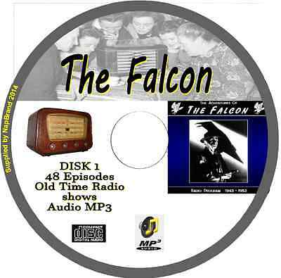 The Falcon OTR Old Time Radio 95 Episodes Audio MP3 on 2 CDs