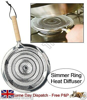 Simmer Ring Heat Diffuser Pan Mat for Gas or Electric
