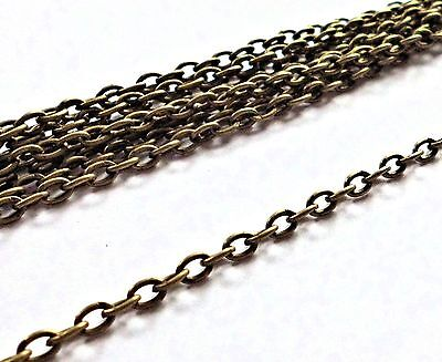 5 metres Antique Bronze  Cable Chain 4x3mm jewellery findings Lead & Nickel free