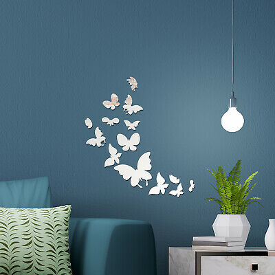 Mirror Home Wall Art 14 Butterflies Decal Decoration Interior