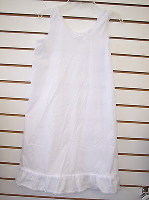 Infant, Toddler, & Girls White Cotton Blend Slip Sizes 6 Months - 14