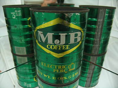 MJB Electric Perc 32 oz or 2 Lb, Vintage Coffee can