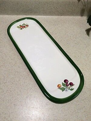 """Vtg A.SANTOS Portugal Hand Painted Platter Plate Cracker Relish Cheese Fruit 15"""""""