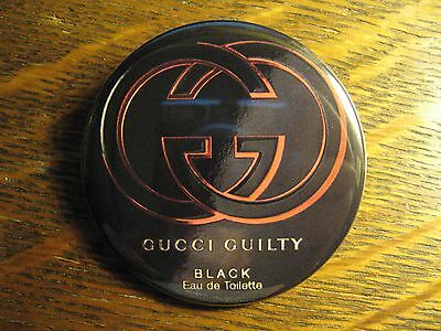Gucci Italy Guilty Black Perfume Italian Advertisement Pocket Lipstick Mirror