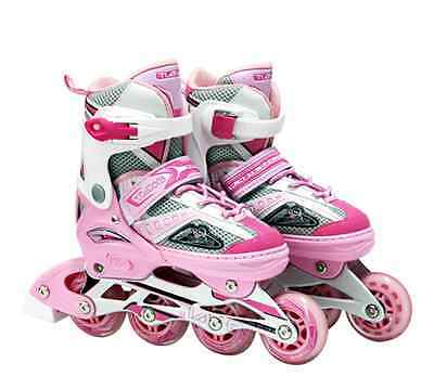 Adjustable Roller Blades Rollerblades Inline Skates Girls Kids US4-6 Euro 35-38