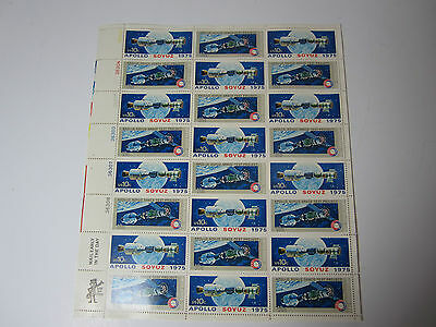 US Stamps Plate Block 10 cent Lot 24 Apollo Soyuz 1975 NASA Space Test Project