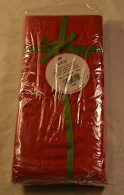 Set of 6 Bardwil Dinner Napkins Christmas Solids 3 Green 3 Red 19x19 Cotton NWT