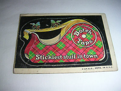 Topps Wacky Packages 2nd series Botch Tape 1973