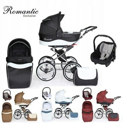 Romantic Baby Pram Stroller Buggy Retro Leather New Collection 2019 - 6 Colours
