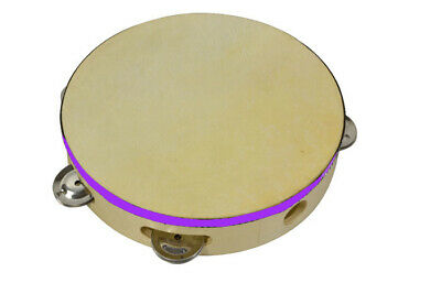 Bryce Tambourine 8 inches with Head - Traditional wood construction