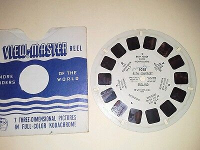 1940s Sawyers Viewmaster 3D Stereo 1038 reel Bath Somerset England photos