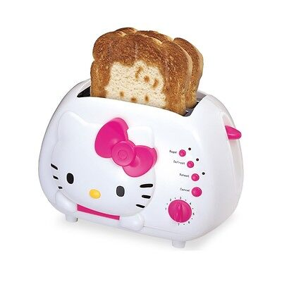 BRAND NEW - Hello Kitty 2-slice Wide Slot Toaster With Cool Touch Exterior