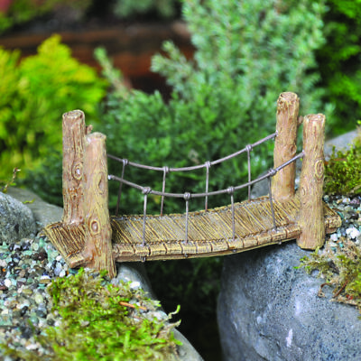 Miniature Dollhouse FAIRY GARDEN - Suspension Bridge - Accessories
