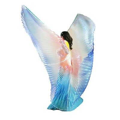 AU Child/Adult Belly Dance Costume Kid women isis wings blue yellow red Colors