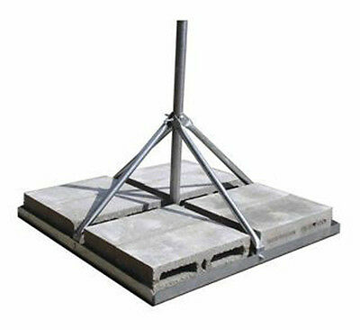 """ROHN FRM238 Non-Penetrating Roof Mount with 2.38"""" OD x 0.154"""" Wall x 30"""" Mast"""
