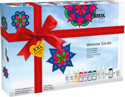 "Window Color Farbe ""Glas Design"" Set XXL Farben, Schmucksteine, Folie"