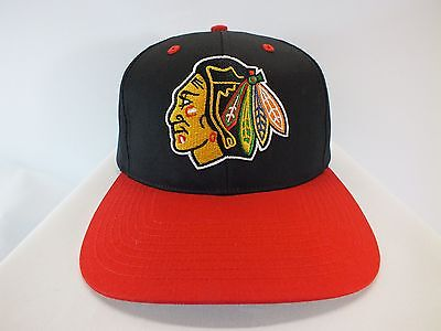 Chicago Blackhawks Nhl Adult Red/black Snapback Cap New Hat By Twins Enterprise