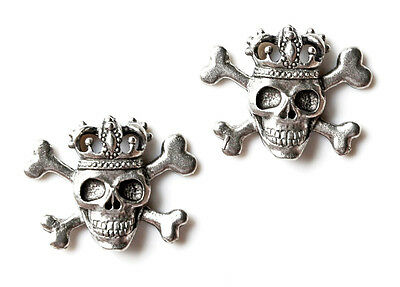 Skull and Crown Cufflinks - Gifts for Men - Handmade - Gift Box