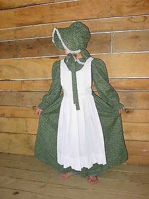 Historical Handmade Modest Costumes Colonial Dress ~Hunter Pioneer~ Child 10/12