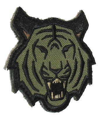 Tiger Head Usa Army Morale Tactical Us Military Forest Velcro Embroidered Patch