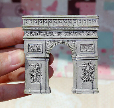 TOURIST SOUVENIR Resin 3D FRIDGE MAGNET --- Arc De Triomphe , Paris , France