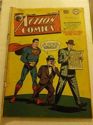 Action Comics 100 1946 Superman Original Golden Age DC