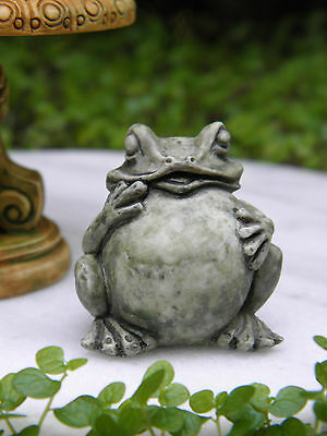 Miniature Dollhouse FAIRY GARDEN Accessories ~  Green Frog Toad Statue ~ NEW