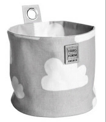 New FARG & FORM Kids Childrens Storage Round Hanging Small - Clouds Grey