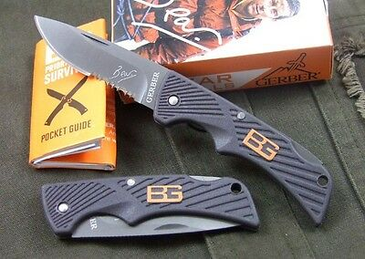 GB  Emergency Rescue Small Pocket Knife Survival Hunting Folding Knife K61WR
