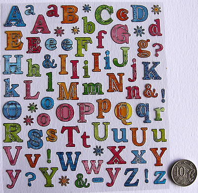 Scrapbooking No 163 - 55+ Small Glitter Look Alphabet Stickers - Price Reduced