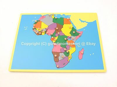 NEW Montessori Geography Family Set- Small Board Puzzle Map of Africa