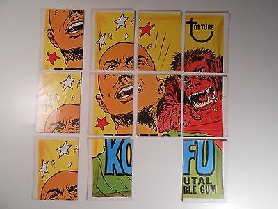 1974 WACKY PACKAGES SERIES 8  'KONG FU' PUZZLE PIECES
