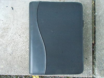 Saab Black Plastic And Fabric Zip-Up Style Wallet For Vehicle Documents Etc