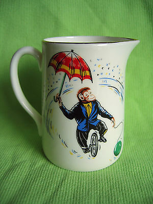 Hammersley & Co Small Creamer Milk Jug Circus Monkey in Suit Unicycle & Umbrella