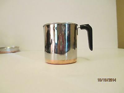 "Vtg 1801 Copper Clad SS Revere Ware TOY Mini Miniature Childs COFFEE POT 3"" USA"