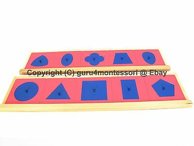 NEW Montessori Language Material - Pink Blue Metal Insets w/ Stands