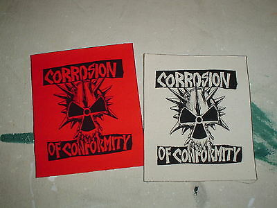 LOT OF 2 CORROSION OF CONFORMITY PATCHES BLACK FLAG SOULFLY DOWN METAL PUNK DIY