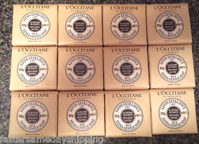 LOT of 12 L'Occitane Extra Gentle Milk Soap Shea Butter 1.7 oz 50g NEW not 8.8