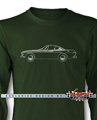 Volvo P1800 Coupe Long Sleeves T-Shirt - Multiple Colors and Sizes - Swedish Car