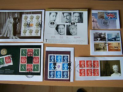 GREAT BRITAIN,7 ITEMS ON PIECE,EXCELLENT LOT.