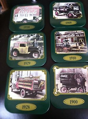 6 Coca-Cola Coasters Trip Through The Early 90's Mint! Vintage!