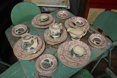 Lot of transferware dishes