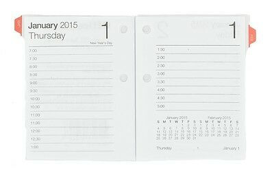 Office Depot Brand 30% Recycled Compact Desk Calendar Refill, 3 x 3.75 Inch 2015