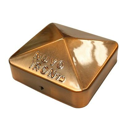 """Nuvo Iron 3.5"""" x 3.5"""" Eazy Cap (for Posts with Rounded Corners) - Copper Plated"""