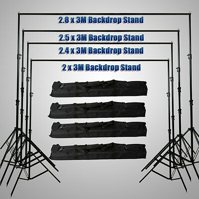 Photography Photo Studio Background Support Backdrop Light Stand Carry Bag Kit