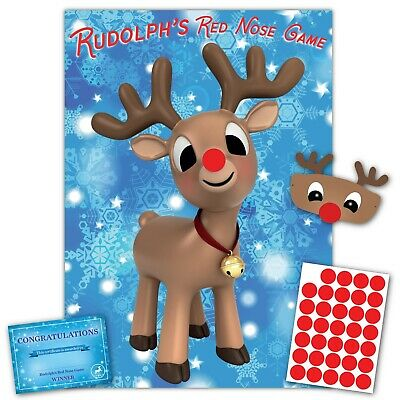 Christmas Family Game - RUDOLPH'S RED NOSE- Family, Kids, Office Xmas Party Game