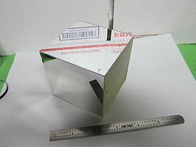 OPTICAL LARGE CUBE MIRROR REFERENCE [some scratches] LASER OPTICS BIN#F6-12