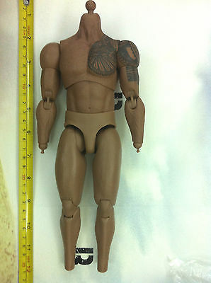 1/6 hot toys G.I Joe Retaliation RoadBlock Dwayne MMS199 - tattoo body + peg