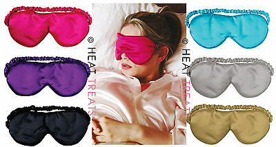 Aroma Home Luxurious Lavender Scented Silky Satin & Velour Eye Mask / Sleep Mask